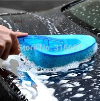 Brand New Blue Car Brush Triangle Wave Sponge Brush Car Wash Brush Cheap Portable Clean Dust Tools Free Shipping