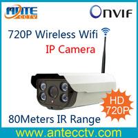 1.0Megapixel 720P Realtime Wireless Wifi HD IP Network Security Camera 80Meters IR Range