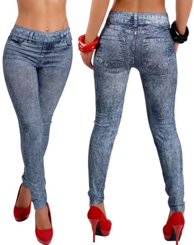 New Women Sexy Tattoo Jean Look Legging Sport Leggins Punk Fitness American Apparel Jeans Woman Pants 9066(China (Mainland))