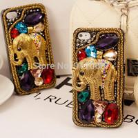 vintage Elephant sparkle  rhinestone cover for iphone6