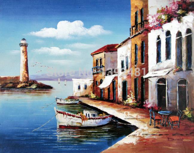Paintings of Seaside Scenes Free Shipping Seaside Scene