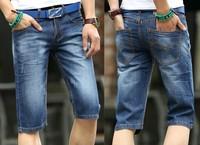 free shipping 2014  Famous Brand Short Jeans Men Denim Blue Boy's Hot Short Cotton Beach Pants Fashion Summer Mens Shorts,jeans