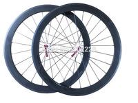 60mm clincher/tubular carbon bicycle 700C wheels bike carbon road wheelset