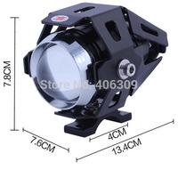 Moto LED Work Spot Light Transformers Black Shell 3000lm LED Cree Motorcycle Headlight Fog Light Spot Light(3 Modes,DC12~80V)
