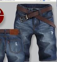 free shipping  Famous Brand Short Jeans Men Denim Blue Boy's Hot Short Cotton Beach Pants Fashion Summer Mens Shorts,jeans men