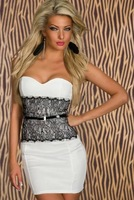 Production house direct sales ladies fashion Sexy Bra chest wrapped skirt new Slim Body princess dress free delivery