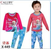 X-449 new children's children's pajamas pajamas clothes sleeve cotton cartoon baby pajamas girl boy suit set