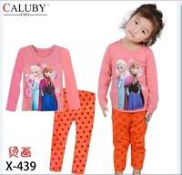 X-439 new children's children's pajamas pajamas clothes sleeve cotton cartoon baby pajamas girl boy suit set