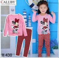 X-430 new children's children's pajamas pajamas clothes sleeve cotton cartoon baby pajamas girl boy suit set