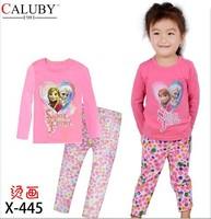 X-445 new children's children's pajamas pajamas clothes sleeve cotton cartoon baby pajamas girl boy suit set