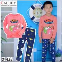 X-432 new children's children's pajamas pajamas clothes sleeve cotton cartoon baby pajamas girl boy suit set