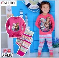 X-438 new children's children's pajamas pajamas clothes sleeve cotton cartoon baby pajamas girl boy suit set