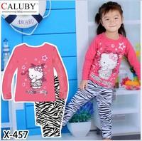 X-457 new children's children's pajamas pajamas clothes sleeve cotton cartoon baby pajamas girl boy suit set