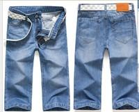 free shipping Hot  Famous Brand Short Jeans Men Denim Blue Boy's Hot Short Cotton Beach Fashion Summer Mens Shorts,jeans