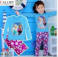 X-441 new children's children's pajamas pajamas clothes sleeve cotton cartoon baby pajamas girl boy suit set