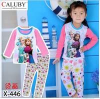 X-446 new children's children's pajamas pajamas clothes sleeve cotton cartoon baby pajamas girl boy suit set