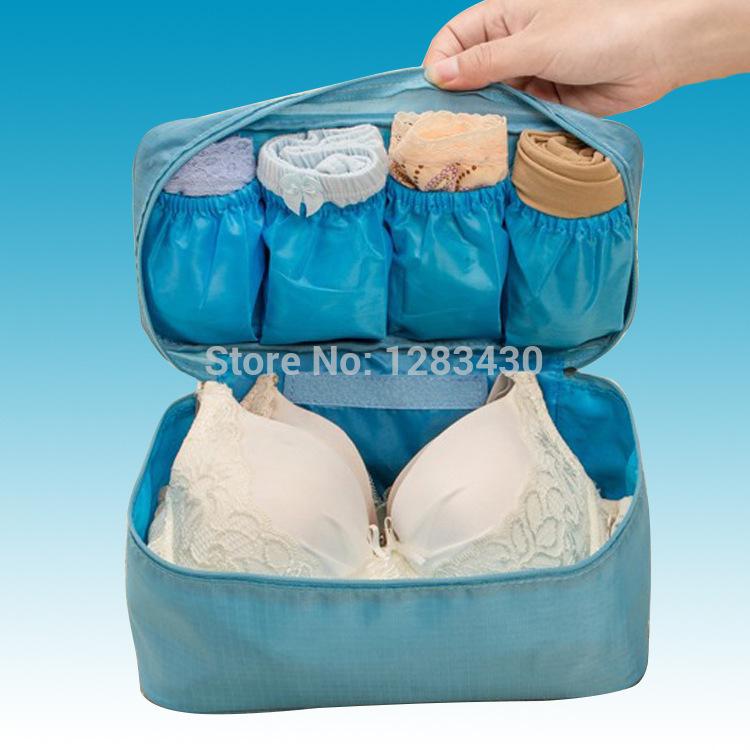 100pcs/lot Wholesale Underwear Lingerie Bra Makeup Organizer Make Up Cases Maleta De Maquiagem Bolsa Travel Bag Storage Box Sale(China (Mainland))