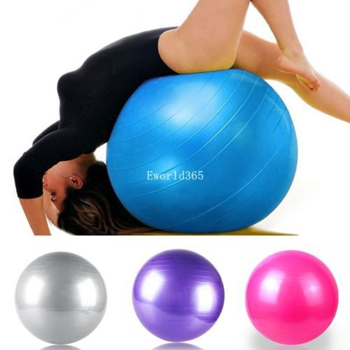 55cm Swiss Yoga Home Gym Exercise Pilates Equipment Fitness Ball Pump 4 Colors(China (Mainland))
