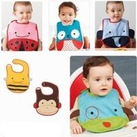 10pcs/ lot SKP Zoo Baby Bibs Cartoon Animals Waterproof Infant Bib Toddlers Boys Girls Saliva Towel Free Drop Shipping Wholesale