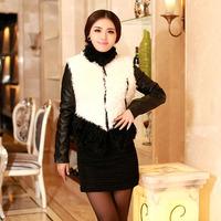 2014 Free Mail Cotton Flax plus cotton wool sheep skin fur fur female short paragraph Slim wool coat