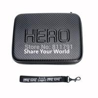 New SJ4000 Gopro waterproof bag case For SJ4000 Go pro Gopro hero 3/2/1 eva case Waterproof carbon fiber bag(23 x 17x 7 cm)