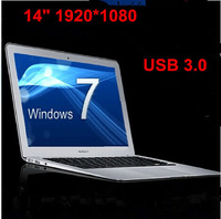"14"" ultrabook laptop 1920*1080 notebook computer Intel N2807 dual core USB 3.0 WIFI camera W/option for 4GB & 500GB"