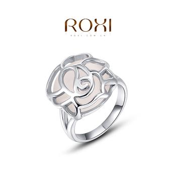 2015 Roxi мода 925 посеребренные кольца австрийский хрусталь алмаз цинковый сплав кольца для женщин