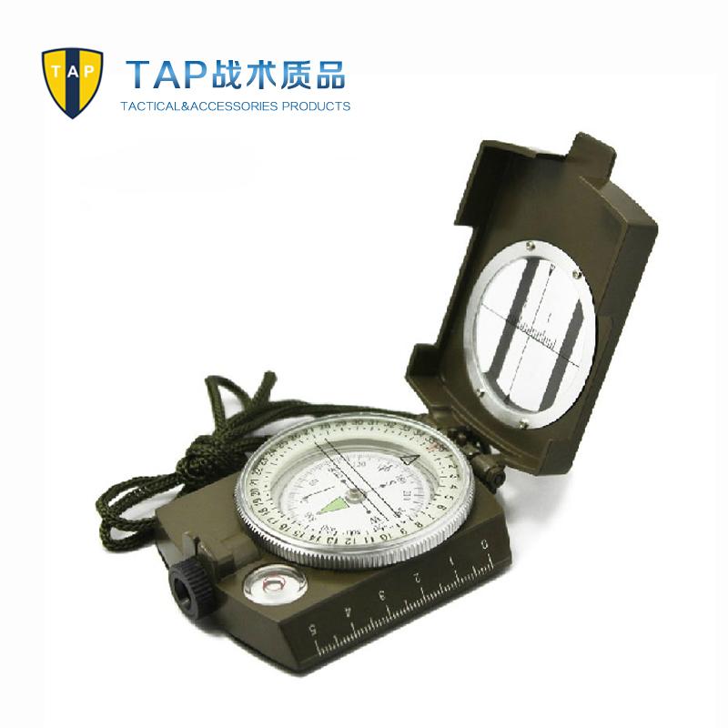 Tap multifunctional metal copper compass car compass luminous outdoor tools(China (Mainland))