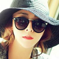 Fashion vintage fancy ayomi metal arrow mark circle sunglasses klwk large sunglasses