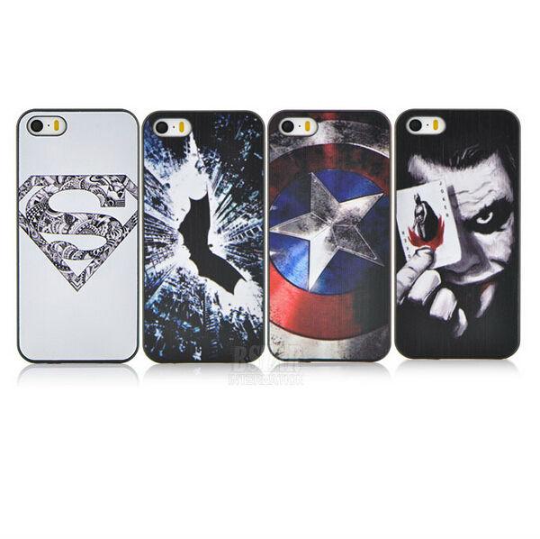 Новое поступление милый мультфильм супермен бэтмен капитан америка клоун спп чехол для apple , iphone 5 5S PT1361