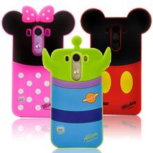 G3 3D dos desenhos animados Mickey Minnie Mouse pato Donald macios TPU Silicone para LG Optimus G3 D855 D851 D850 D830 VS985 F400L capa Bag(China (Mainland))