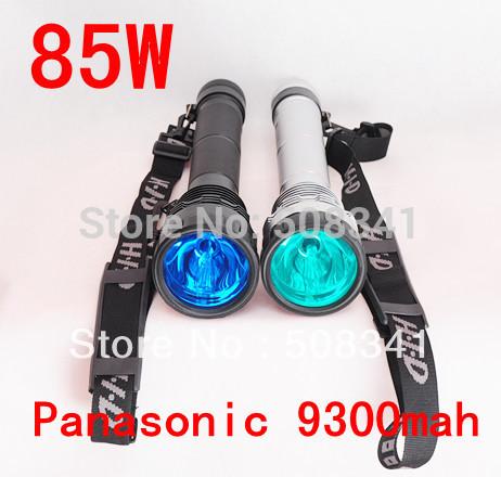 85W HID Xenon Torch Flashlight with Panasonic 9300MAH battey(China (Mainland))