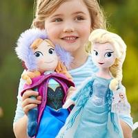 2 PCS/lot 2014 New Frozen Plush Dolls Toys 40cm Princess Elsa Anna Brinquedos Kids Dolls for Girls Free Shipping
