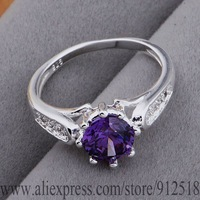 AR560 925 sterling silver ring, 925 silver fashion jewelry, nobby purple stone /bpdakgka eqranhya