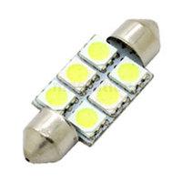 4PCS/LOT 36mm  6 5050 SMD LED car light Interior parking light Festoon dome light lamp bulb