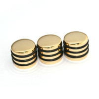 3 Pieces Guitar Rotary Knobs for Potentiometer Parts-Golden