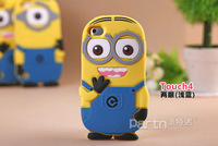For ipod touch 4 case Despicable Me minion cases covers to ipod touch 4g,free shipping