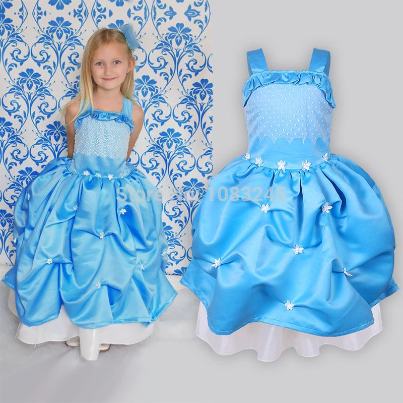Kind/Kinder blau und weiß porzellan jasmine flower prinzessin karneval Phantasie partei kleid fantastisch halloween kostüme
