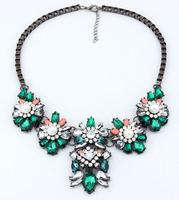 Sparkling Rhinestone Bib Necklace Box Chain Statement Necklace Fashion Party Jewelry BJN6999