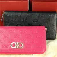 2014 new, (338) women's handbags, buckle twenty percent wallet, purse leather embossing