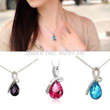 Hot Women Crystal Rhinestone Drop Chain Necklace Pendant For Women Jewelry Statement Bijouterie Accessories Gift 2014