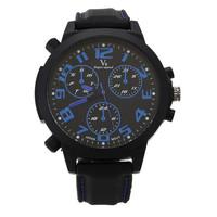 V6 Men Military Watch Rubber Strap Sport Watches Analog Wristwatch large dial Climbing Quartz watch