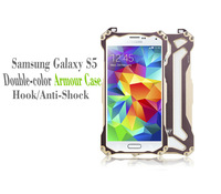 New Arrival Sport Shock Proof Anti-Shock Metal Aluminum Case with Hook for Samsung Galaxy S5 i9600 Protector Free Shipping