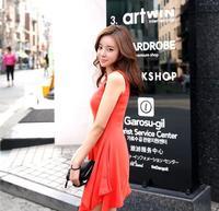 Irregular posed sundress Vest dress Render skirt