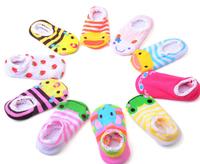 Cheapest Anti-slip Baby Socks Retail Children's socks Foot cover Infant room socks 5 pair/lot Free Ship