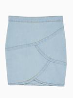 2014 Summer Autumn New Women Casual Blue Denim Wrap Pencil Skirt Jeans Size S M L Free Shipping