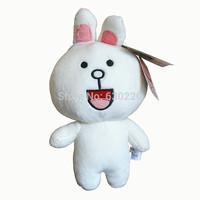 Free shipping Kawaii Cony Rabbit Plush Toy 20cm Line app Nicole Rabbit/Brown bear Backpack Pendants for girls dolls
