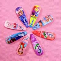 2014 New 10pcs Frozen Anna Elsa Girl Headwear Female Hair Wafer Side-knotted Hairpin BB Clamp Clip/Snow Queen headwear DA371