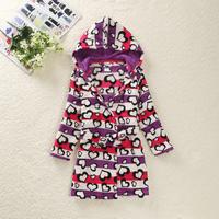 Free Shipping - high quality coral fleece cute kids/children/boys/girls robe,sleepwear pajamas, bathrobe