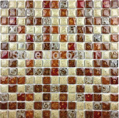 Leopard Deep Red clássico graciosa Furnace Transmutação Ceramic Mosaic Tiles Para Cozinha Backsplash Quarto de chuveiro de jantar parede azulejo(China (Mainland))